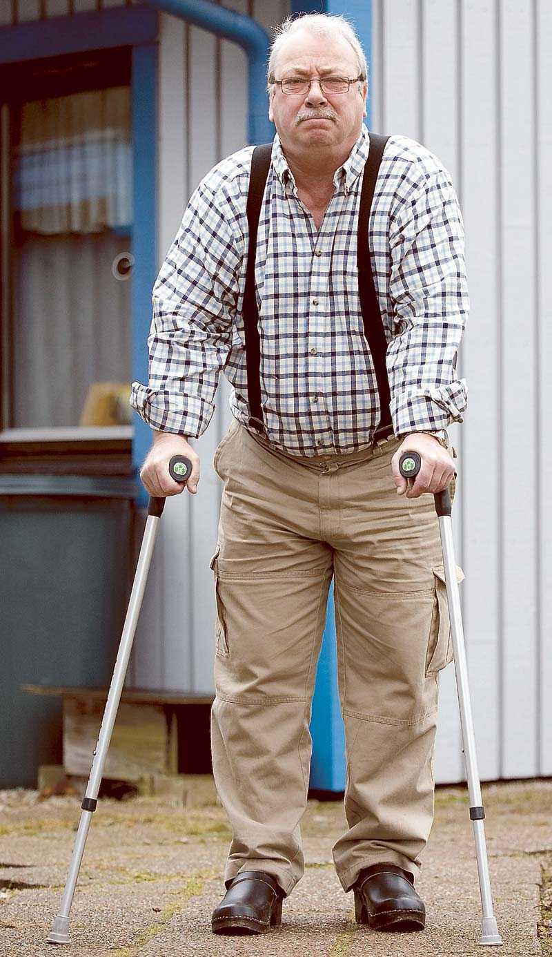 Benneth Eliasson som enligt Försäkringskassan är frisk nog att börja arbeta om ett par veckor.