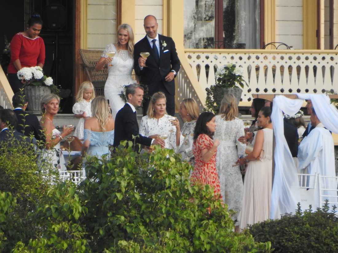 Paret vigdes i Ulriksdal, i Andrea Brodins bostad.