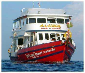 Dykbåten Aladdin var fylld med turister när olyckan inträffade.