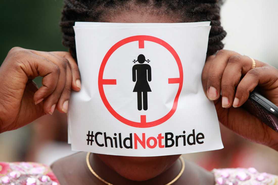 12 miljoner flickor under 18 år ingår äktenskap varje år världen över. Arkivbild.
