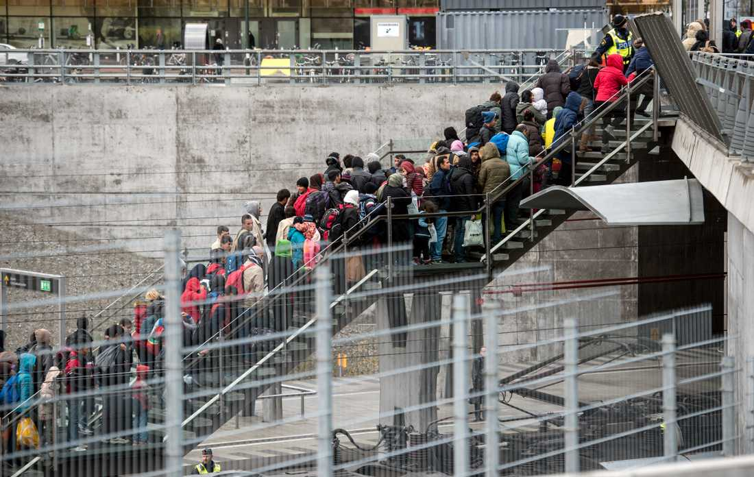 Flyktingvågen 2015. I november slog Migrationsverket larm om att alla asylsökande inte längre kunde erbjudas boende. Arkivbild.