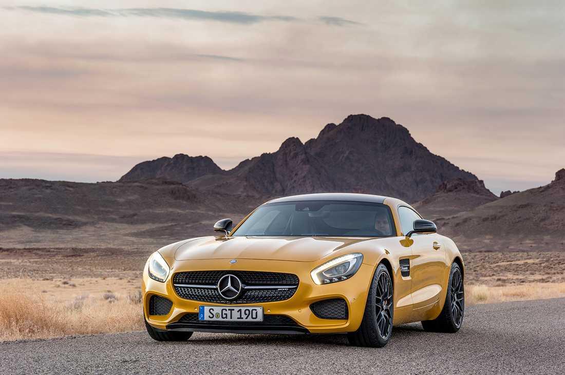 Mercedes AMG GT, den nuvarande sportbilsmodellen i utbudet.