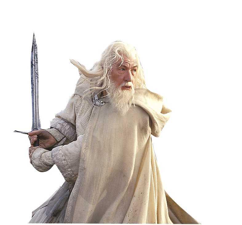 Ian Mckellen som Gandalf.