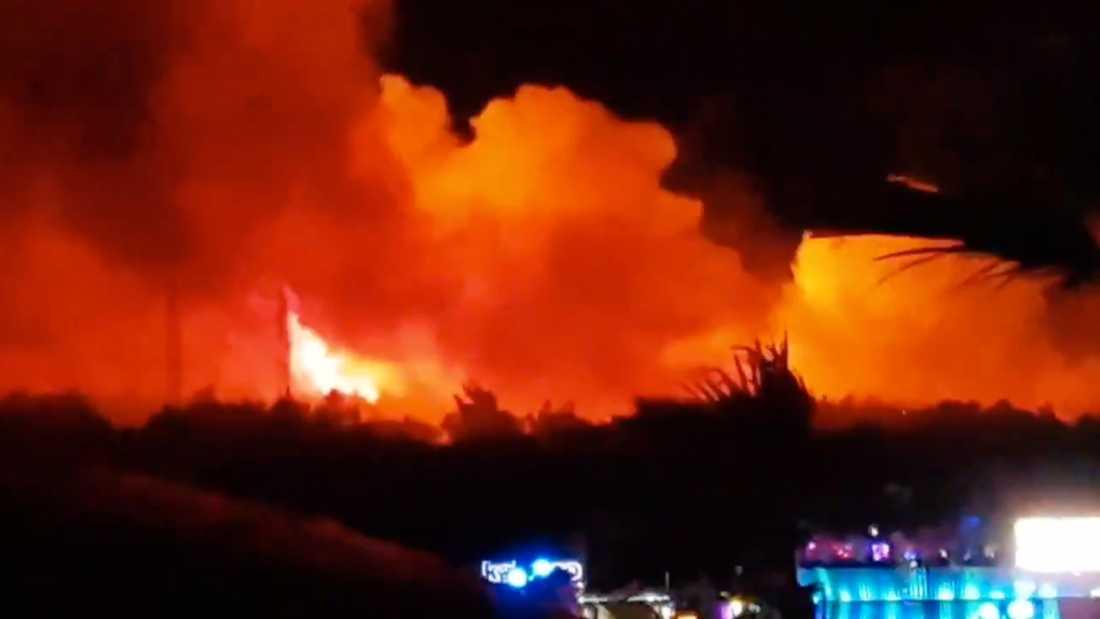 Skogsbrand på Pag i Kroatien.