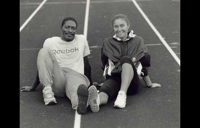 Linda Haglund med maken Houston McTear -89.