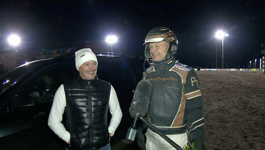 Tränare Robert Bergh och segerkusken Per Lennartsson.