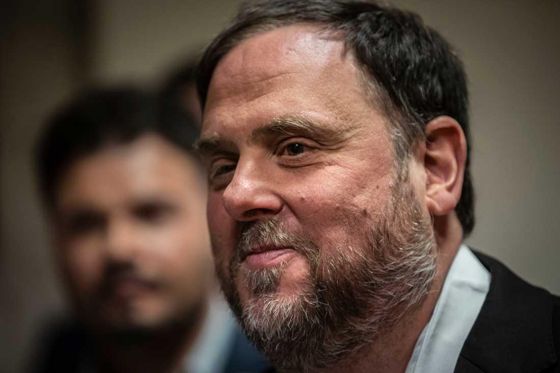 Den tidigare vice regionpresidenten i Katalonien Oriol Junqueras döms till 13 års fängelse. Arkivbild.