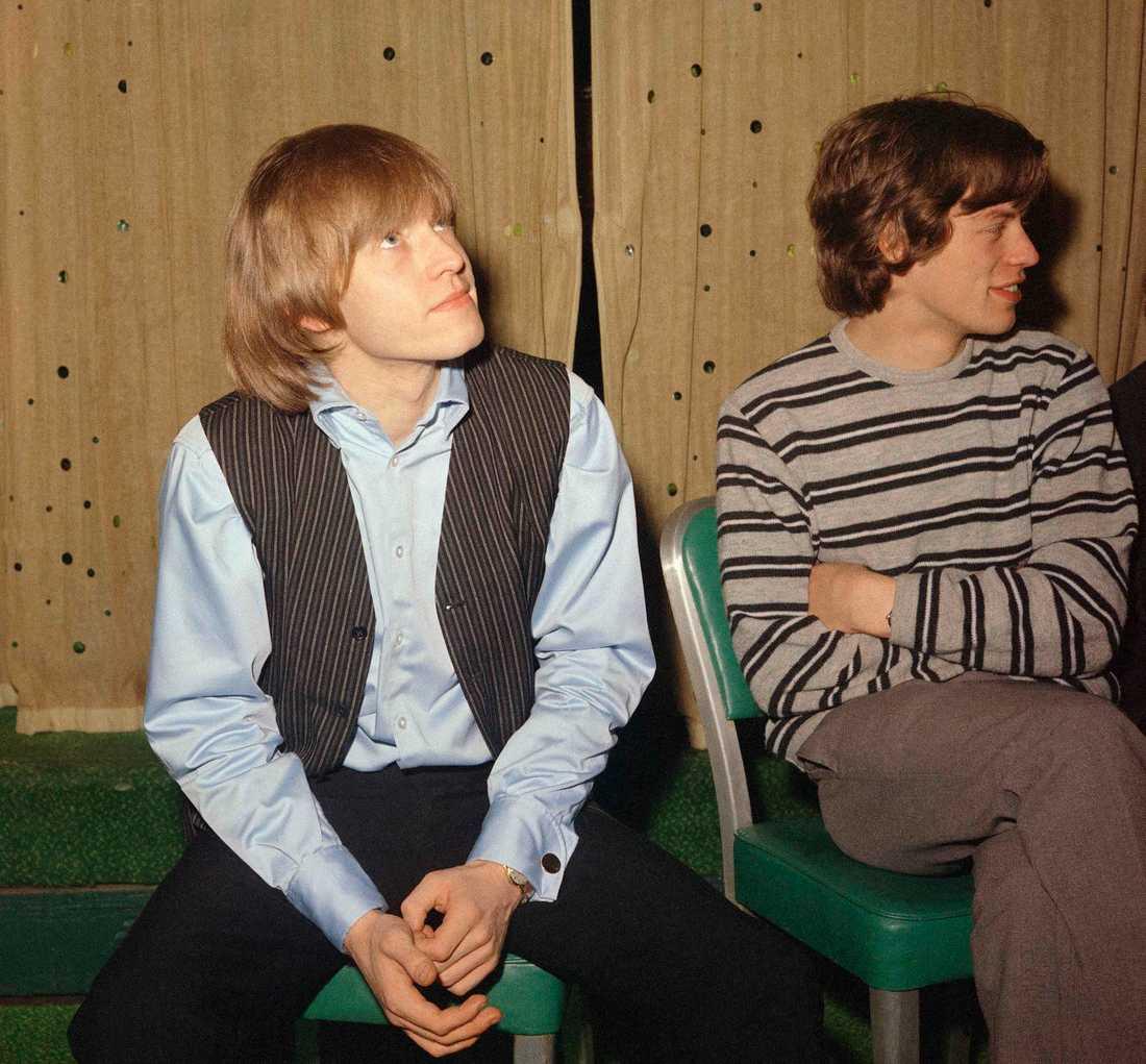 Brian Jones tillsammans med Mick Jagger.