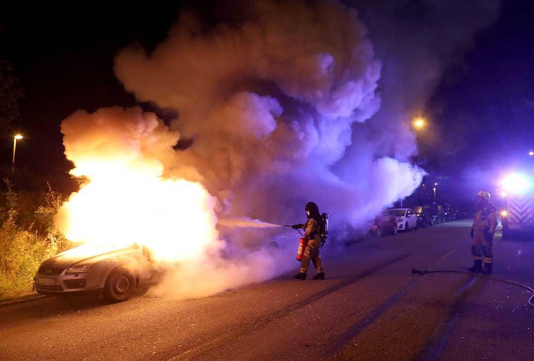 Bilbränder i Malmö.