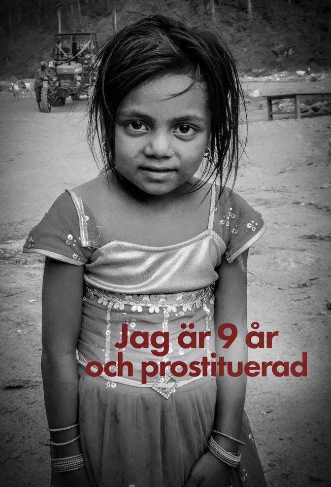 Falsk marknadsföring från Jonatan Alfvén på Love and hope. Flickan har aldrig varit prostituerad.