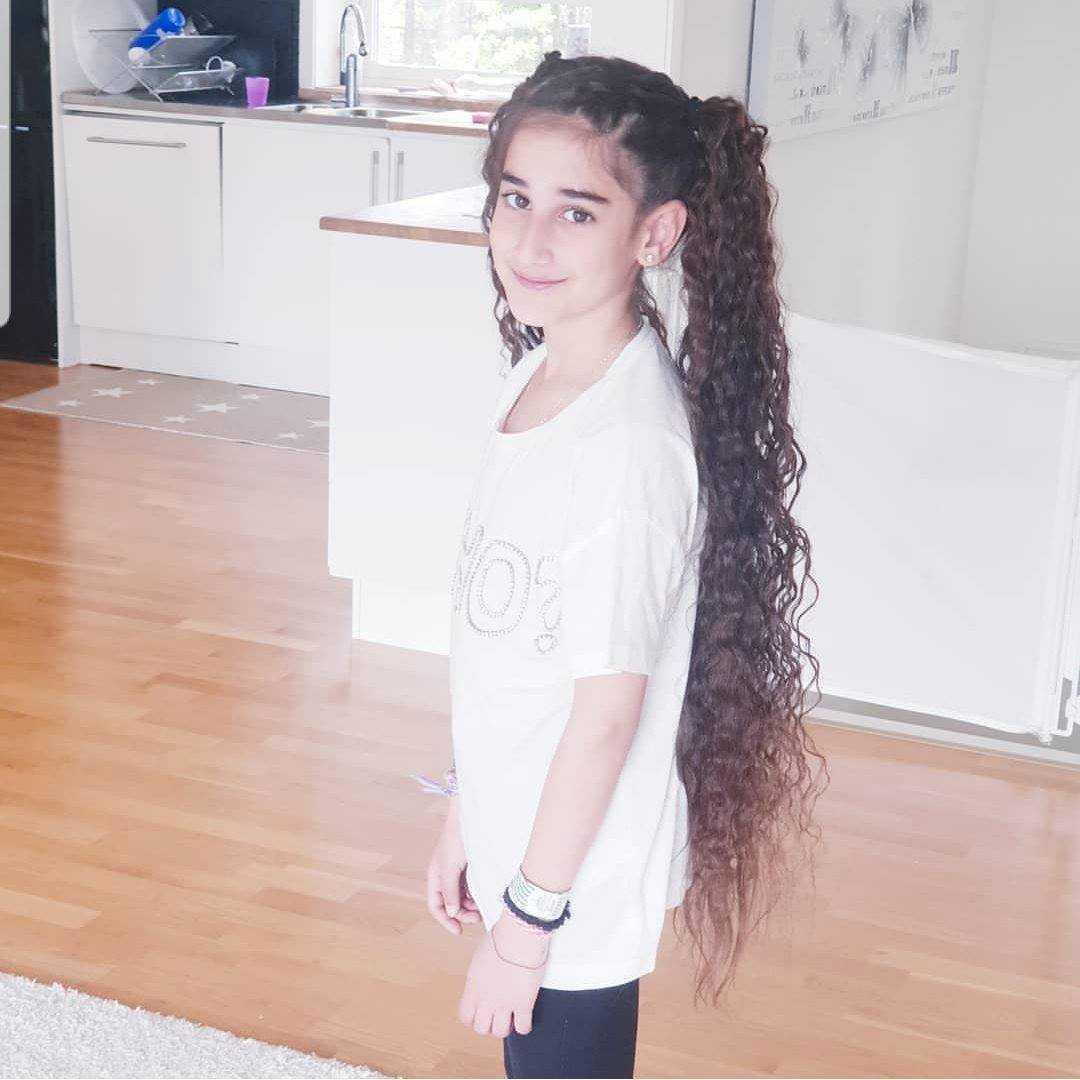 Valencia, 9, har alltid haft långt hår.