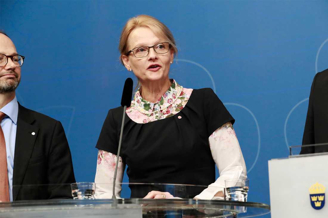 Heléne Fritzon blir migrationsminister. Hon är i dag kommunalråd i Kristianstads kommun.
