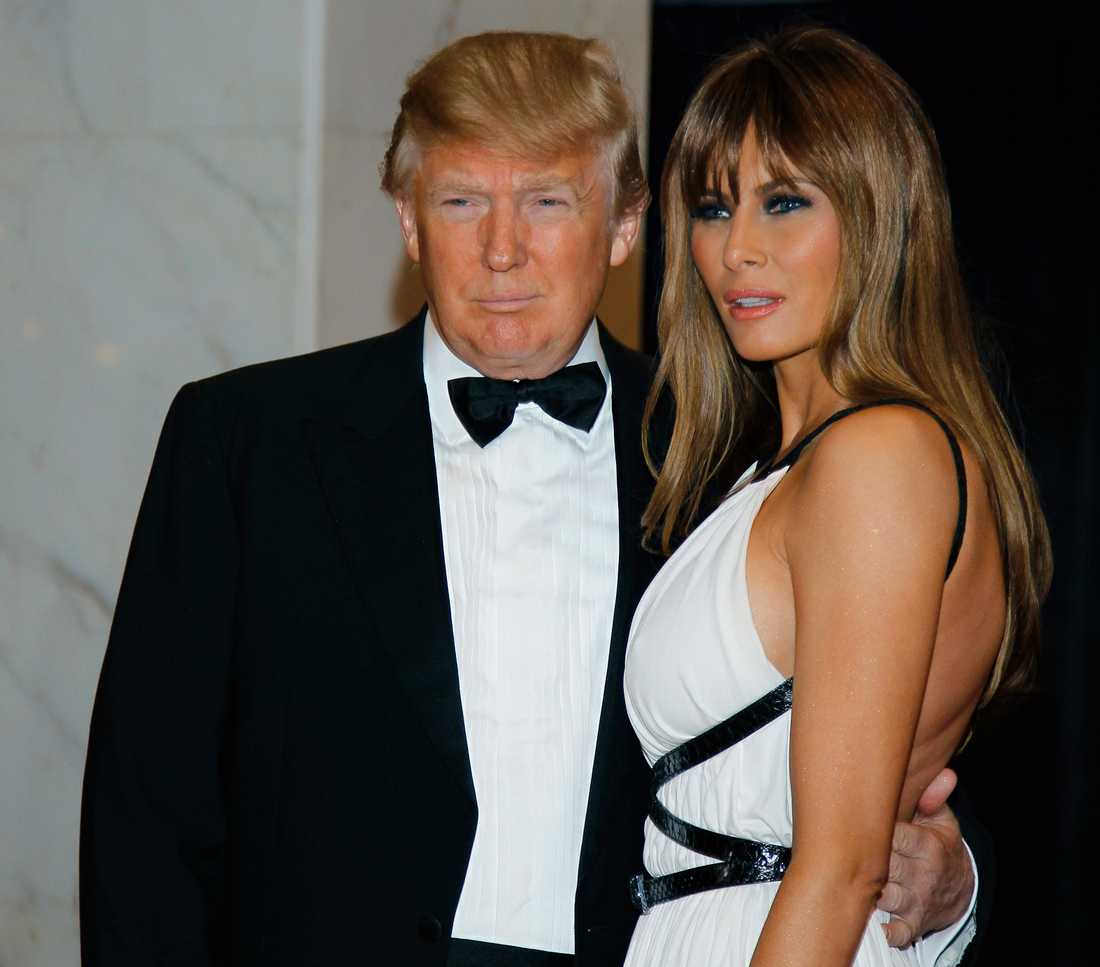 Trump och Melania på en årliga middagen 2011.