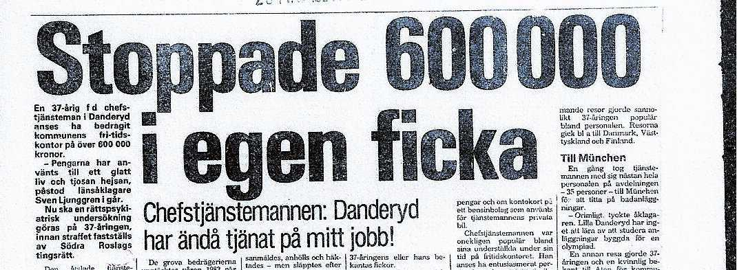 Aftonbladet 26 maj 1984.