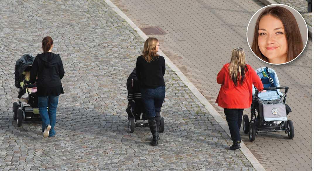 Medan barnvagnsmaffian organiserar sig för kvinnokampen på restauranger i Stockholms innerstad leder barnpolitiken låginkomstagare allt längre från köttgrytan, skriver Siri Steijer.