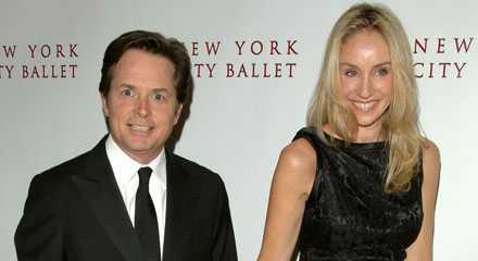 Michael J. Fox med hustrun Tracy Pollan.