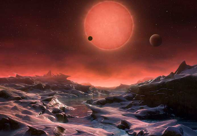 Brittiska forskare har upptäckt en exoplanet, K2-18b, som har atmosfär bestående av vattenånga, vilket av många anses vara en förutsättning för liv. På bilden en rekonstruktion av hur det kan se ut på en exoplanet.