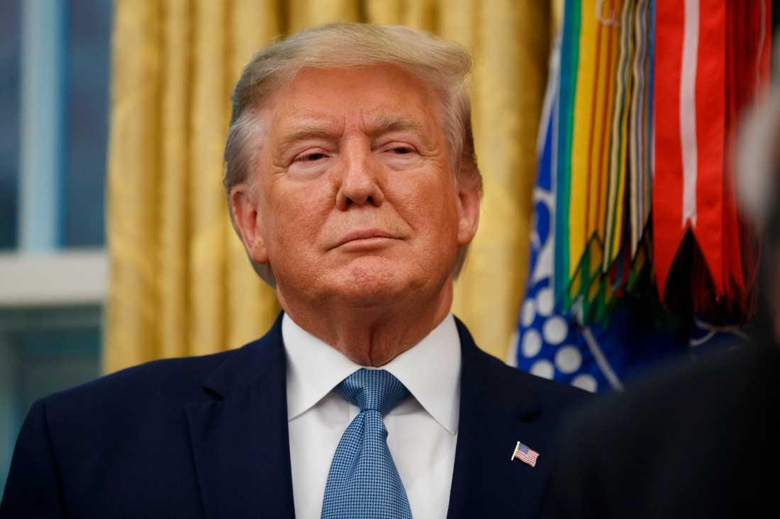 USA:s president Donald Trump i Vita huset på tisdagen.