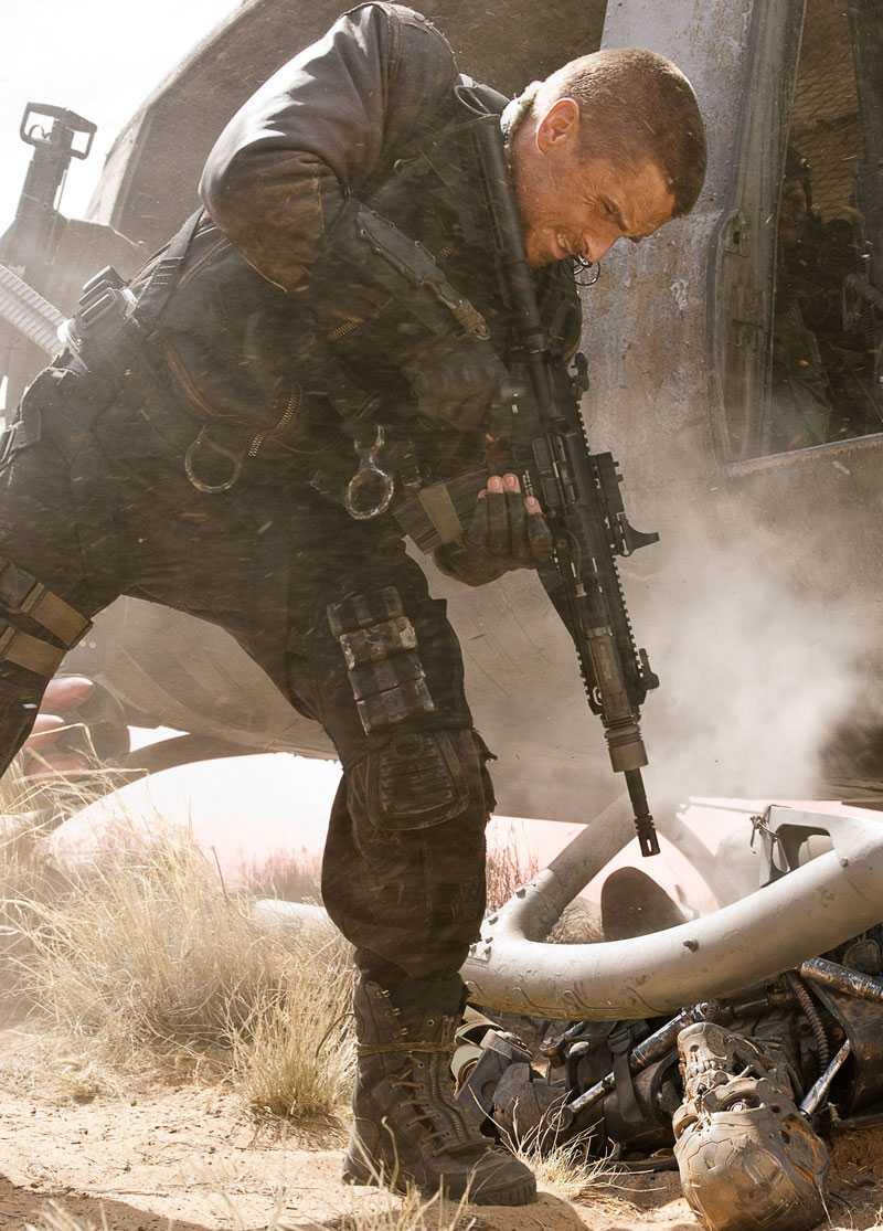 "Christian Bale i ""Terminator salvation""."