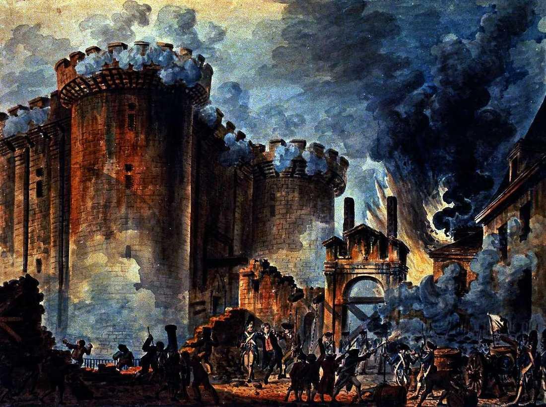 TILL VAPEN, FRIE MAN Så löd stridsropet - fast på franska, så klart - när Bastiljen stormades och revolutionen drog igång, den 14 juli 1789.