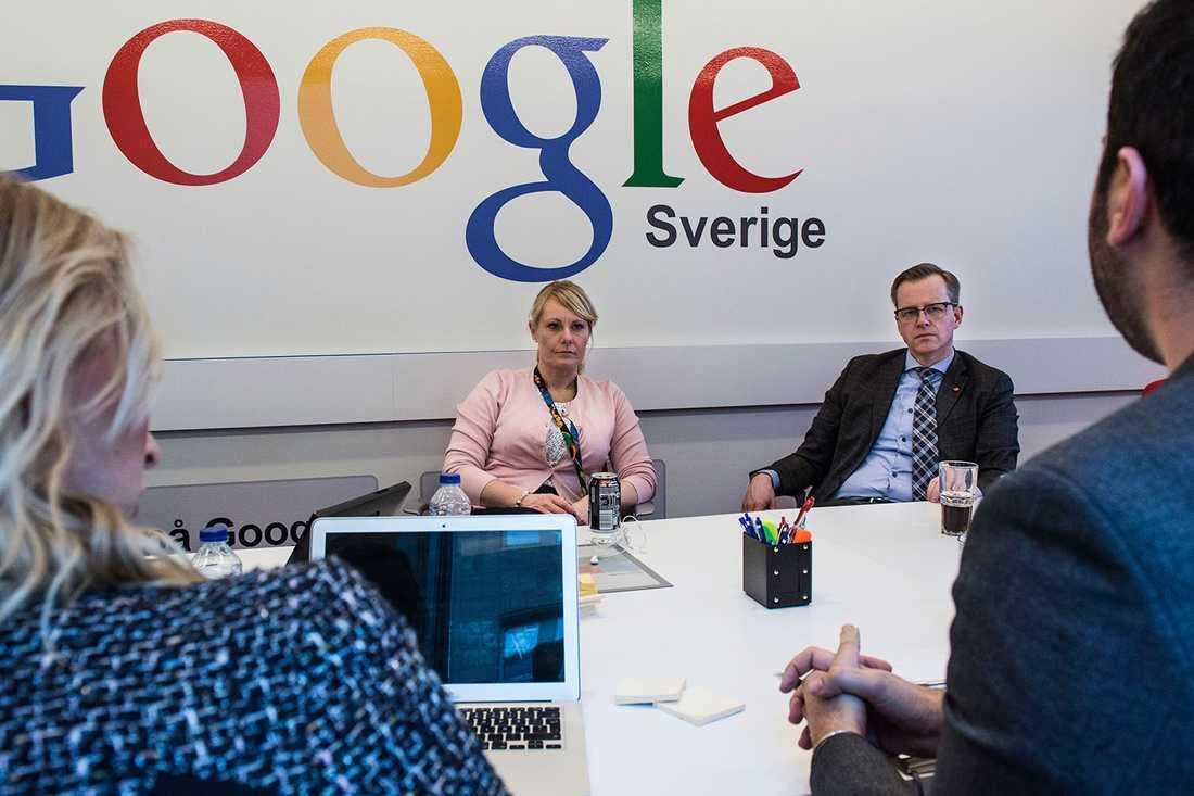 Näringsministern besökte Googles Sverigekontor.