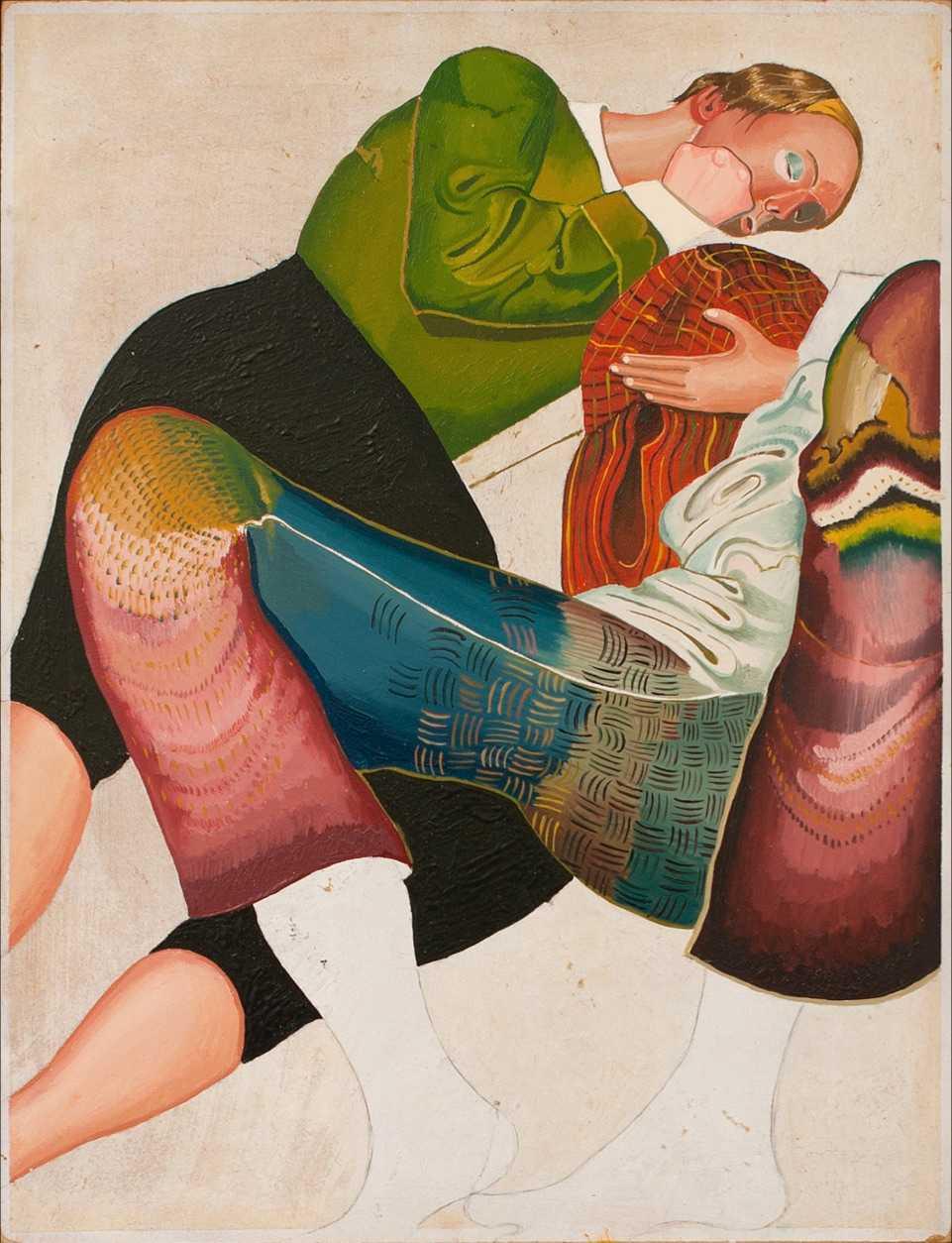 """Jens Fänge, """"Sömnen"""", 2014, olja på pannå."""