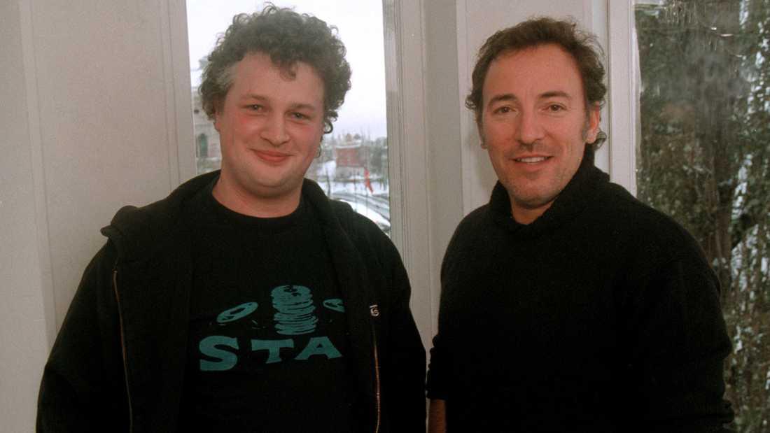 Nöjesbladets Per Bjurman träffar Bruce Springsteen i Stockholm 1998.