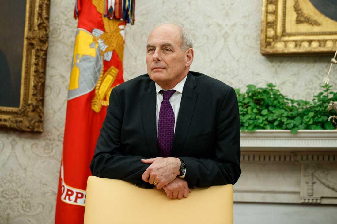 Vita husets avgående stabschef John Kelly.