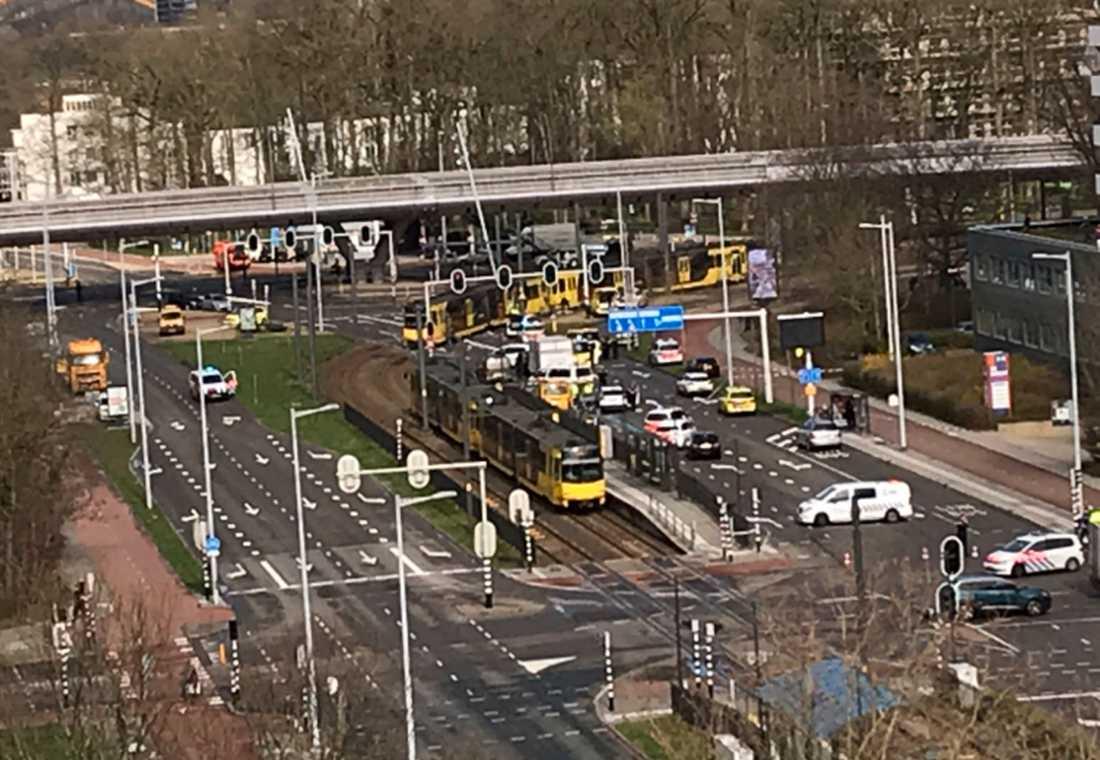 Vid 10.45-tiden på måndagsförmiddagen inträffade en skjutning i centrala Utrecht, Nederländerna.