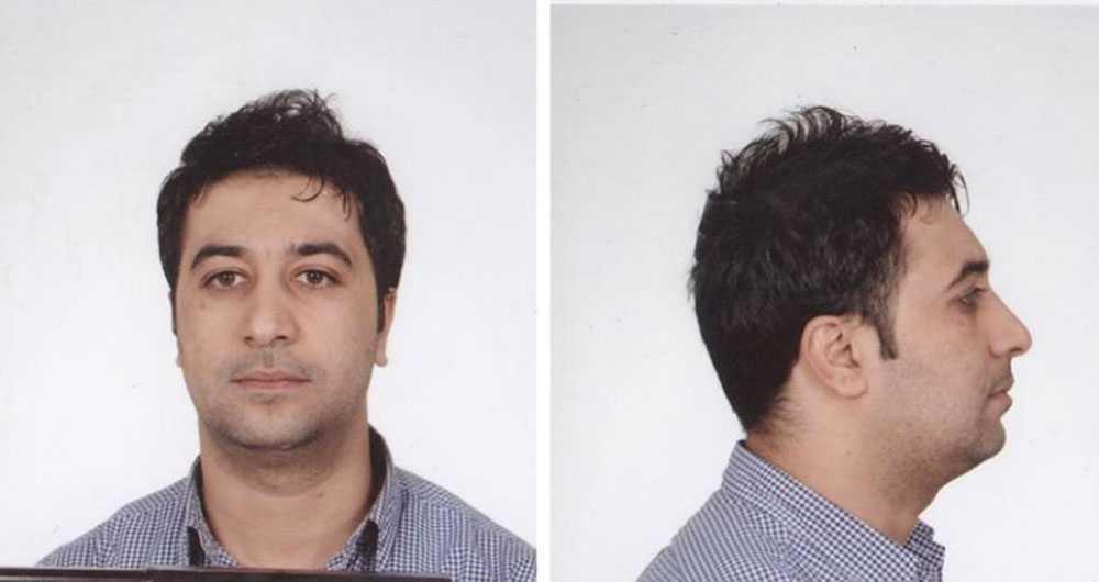 Mohamed Belkaid på polisbilder.