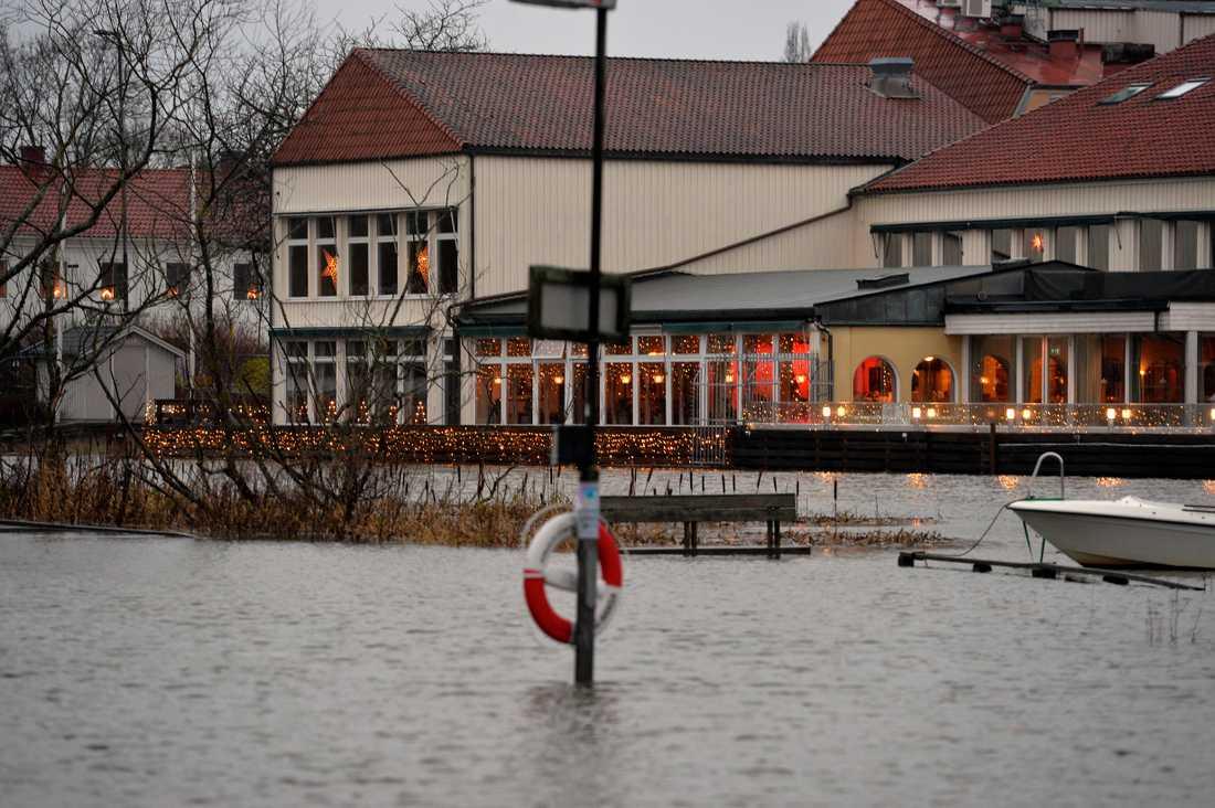 Översvämning i Kungälv.