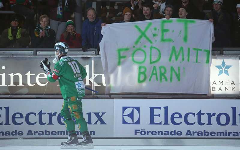 "Stefan Erixon om banderollen: ""Hehe. Den var kanske lite tveksam"""