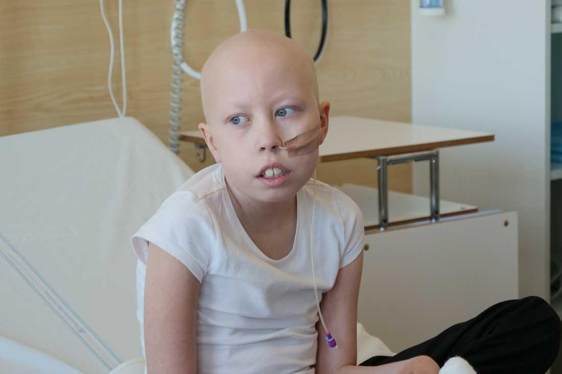 Ida i sjukhussängen på Nya Karolinska
