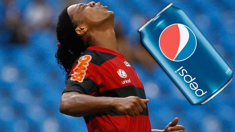 Pepsi - helt fel läsk för den brasilianske stjärnan.