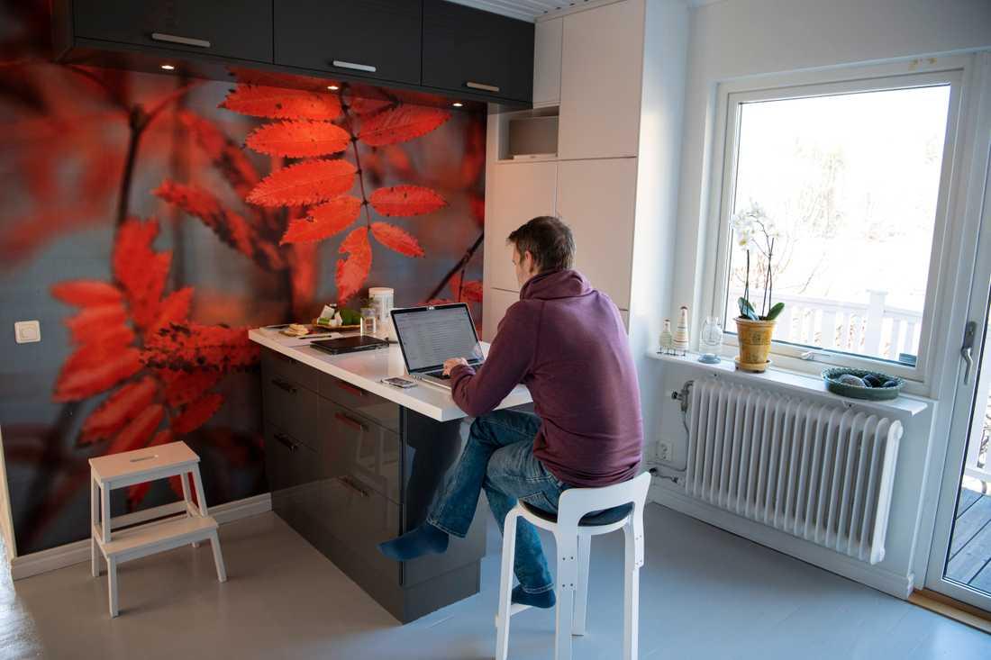 Färre jobbar hemifrån hittills i höst jämfört med i våras. Arkivbild.