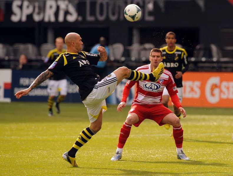 Majstorovic under matchen mot FC Dallas.