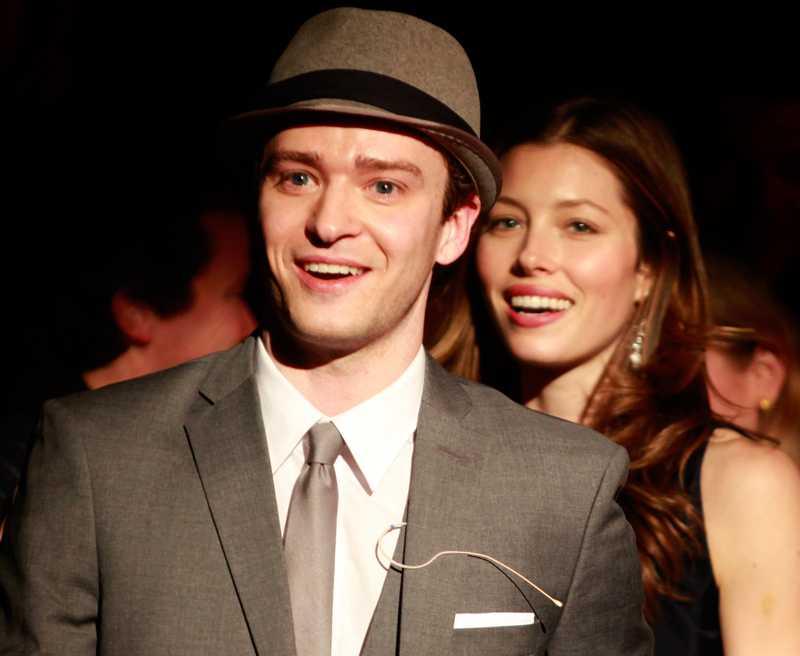 Justin Timberlake och Jessica Biel.