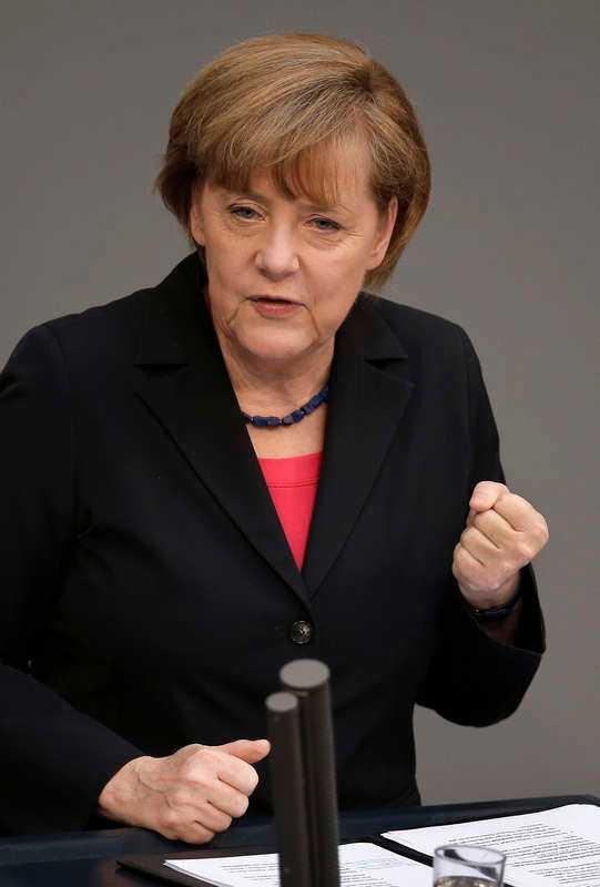 Dreißig Angela Merkel, tysk förbundskansler.
