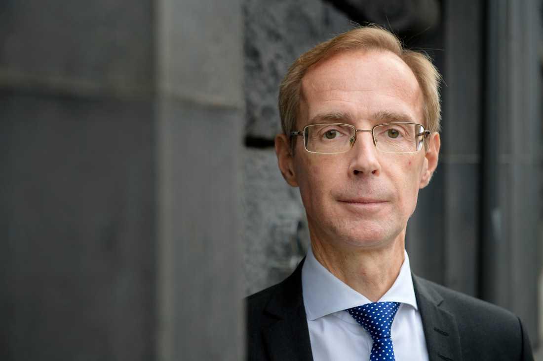 SEB:s ekonomer, härledda av chefsekonom Robert Bergqvist, presenterar en ny konjunkturrapport i serien Nordic Outlook. Arkivbild.