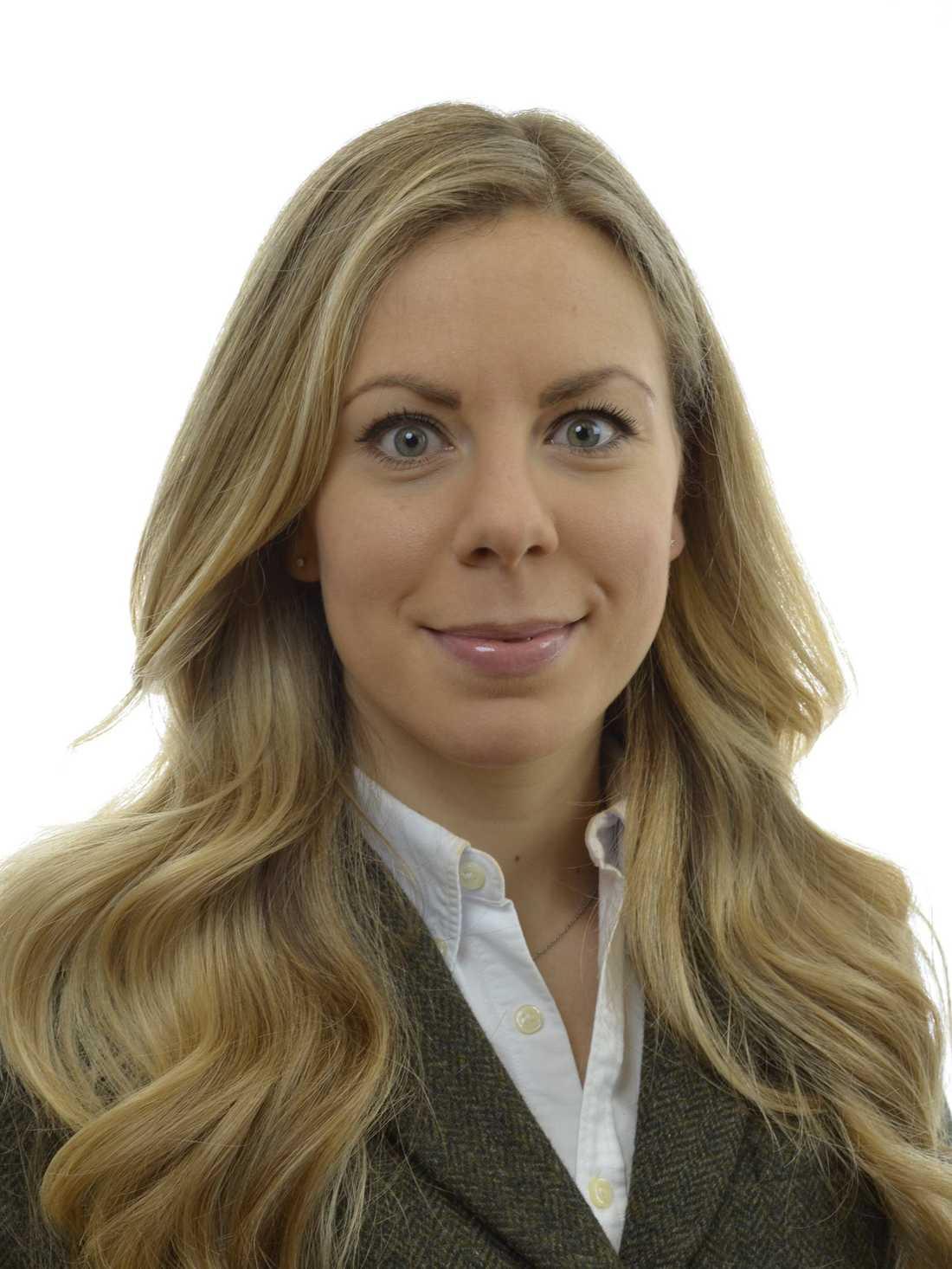 Jessica Rosencrantz, klimatpolitisk talesperson Moderaterna.