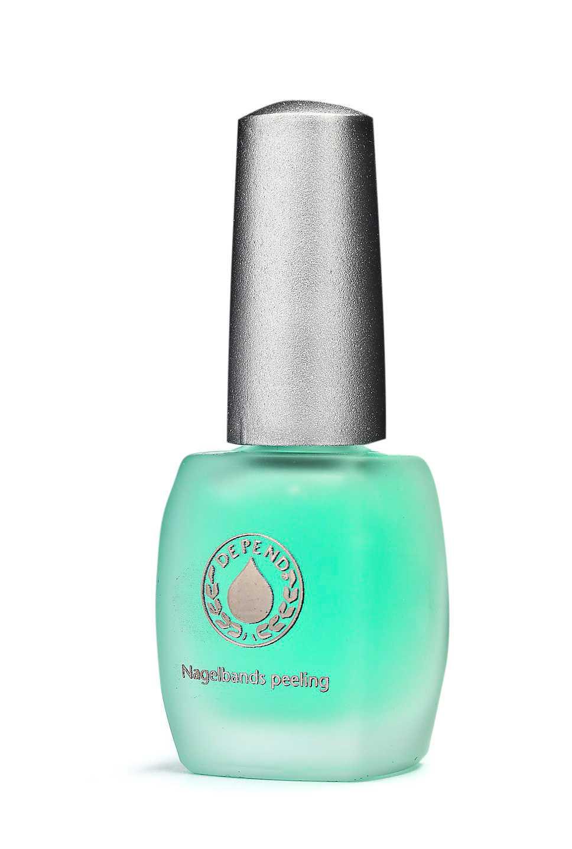 """Nagelbandspeeling Utan locket av döda hudceller på nagelytan kan nageln  lättare tillgodogöra sig efterföljande vård. """"Nagelbands-peeling"""" från Depend för 99 kronor är prisvärd och dryg."""