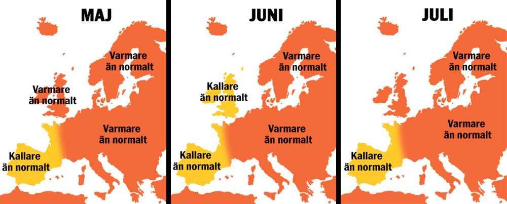 Så kommer sommaren i Europa bli