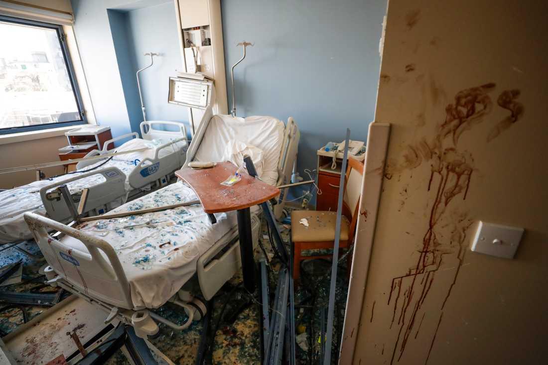 Tre stora sjukhus skadades i den massiva explosionen i Beirut. Arkivbild.