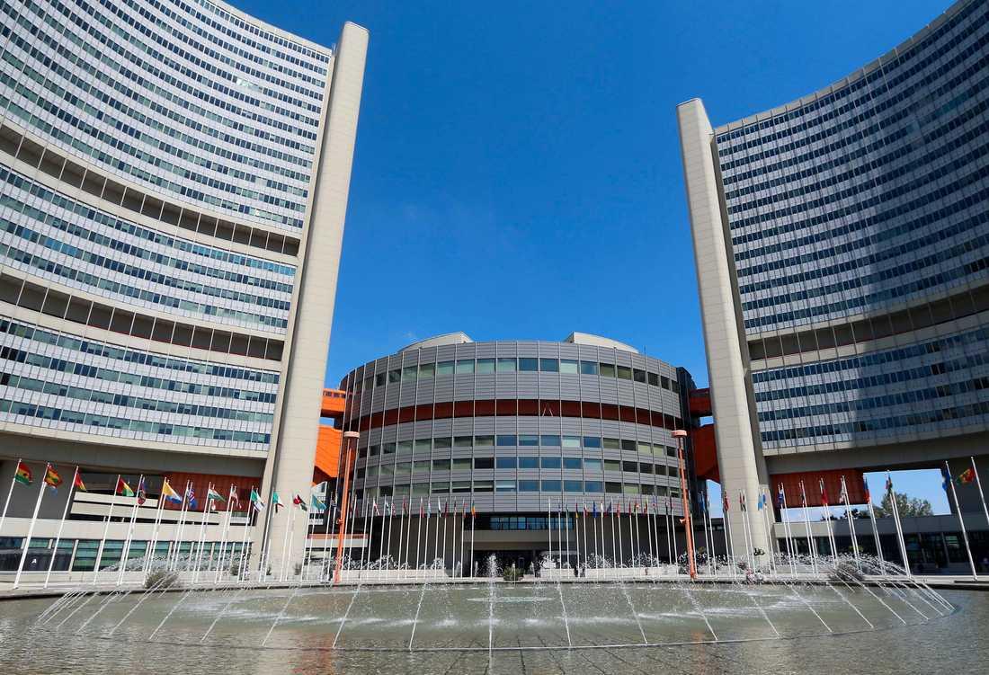FN-kontoret i Wien är en av platserna som utsatts för en cyberattack. Arkivbild.