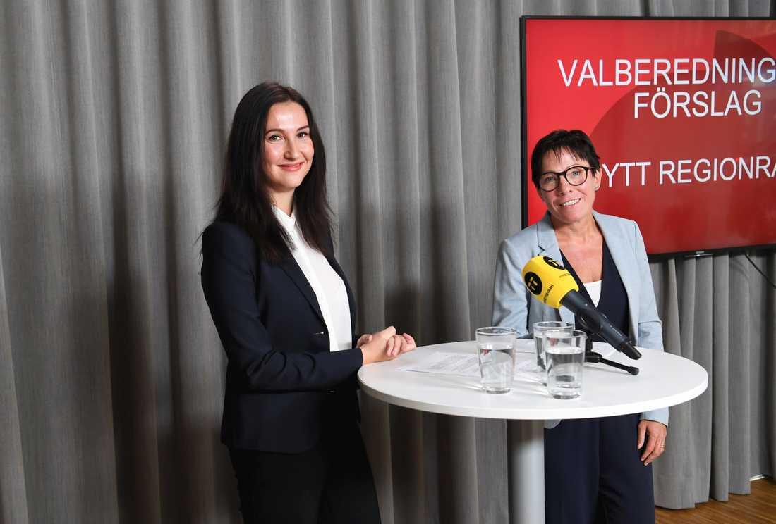 Aida Hadzialic presenterades som Socialdemokraternanas i Stockholm finansregionsråd i opposition under en pressträff.
