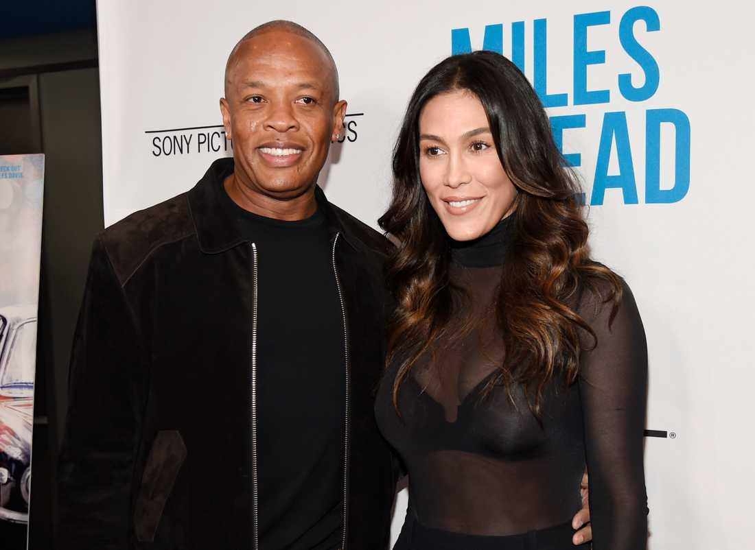 """Andre """"Dr Dre"""" Young och Nicole Young på filmpremiär 2016."""