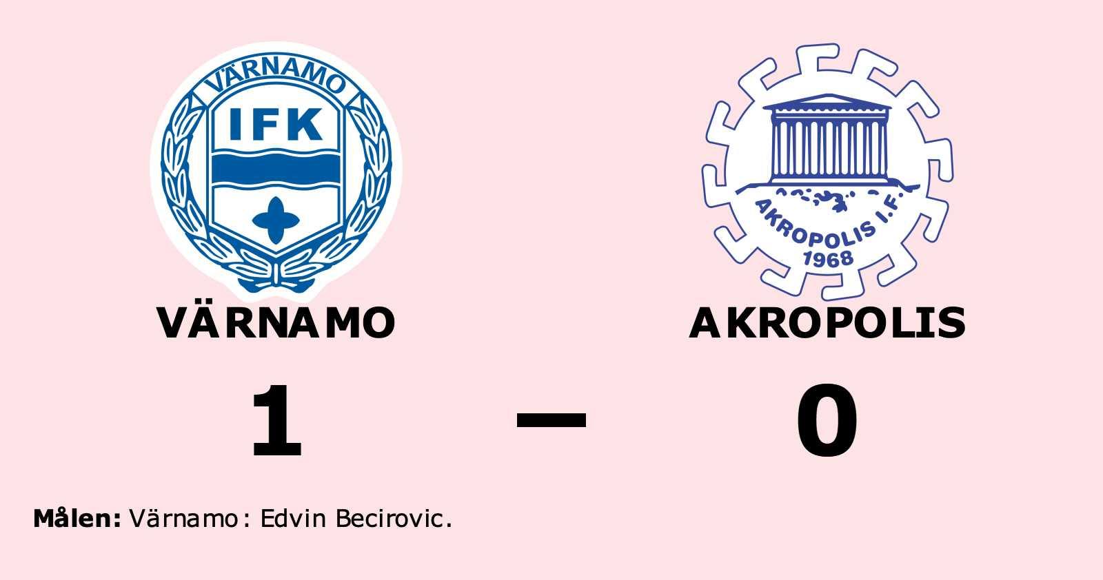 Akropolis föll borta mot Värnamo