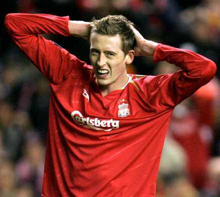 Peter Crouch, firad anfallare i Liverpool.