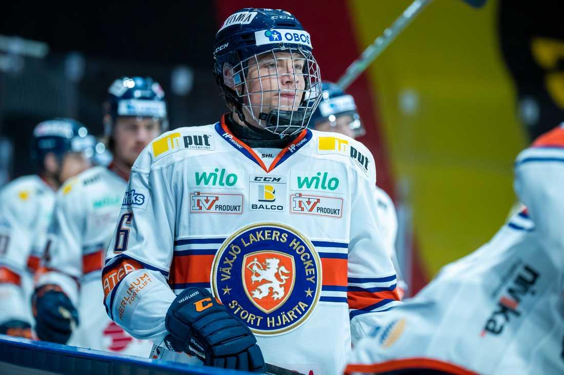 17-årige Victor Stjernborg gjorde karriärens första SHL-mål när Växjö slog Brynäs. Arkivbild.