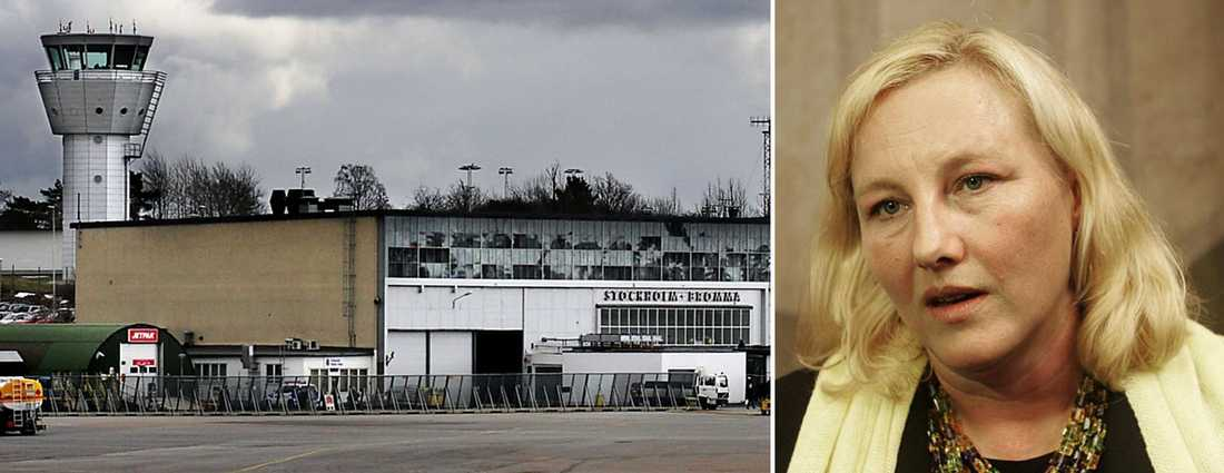 KRITISERAS. Handelsminister Ewa Björling (M) klagade på en flygplatskontrollant, som omplacerades kort därefter.